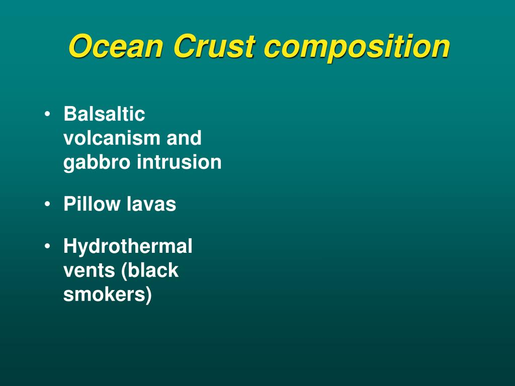 Ocean Crust composition