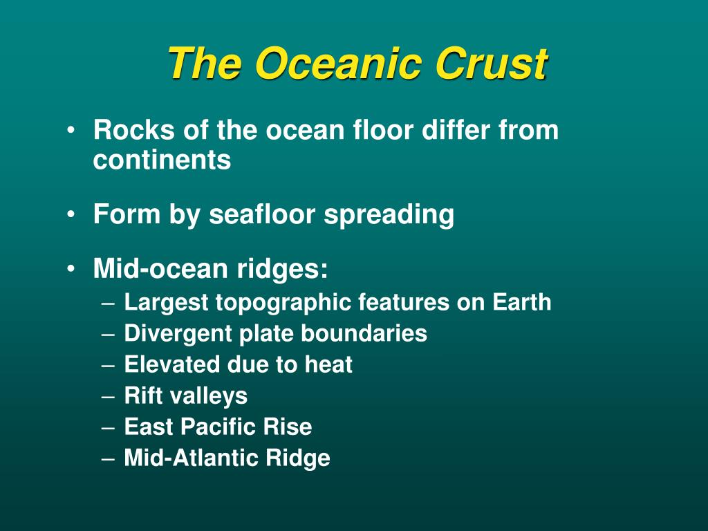 The Oceanic Crust