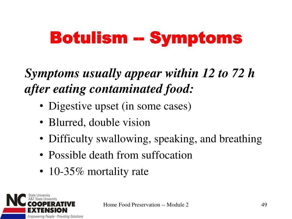 Botulism -- Symptoms
