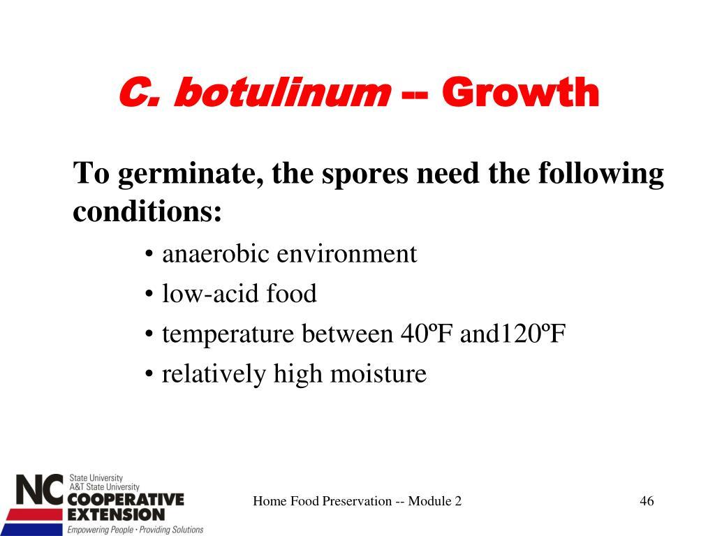 C. botulinum