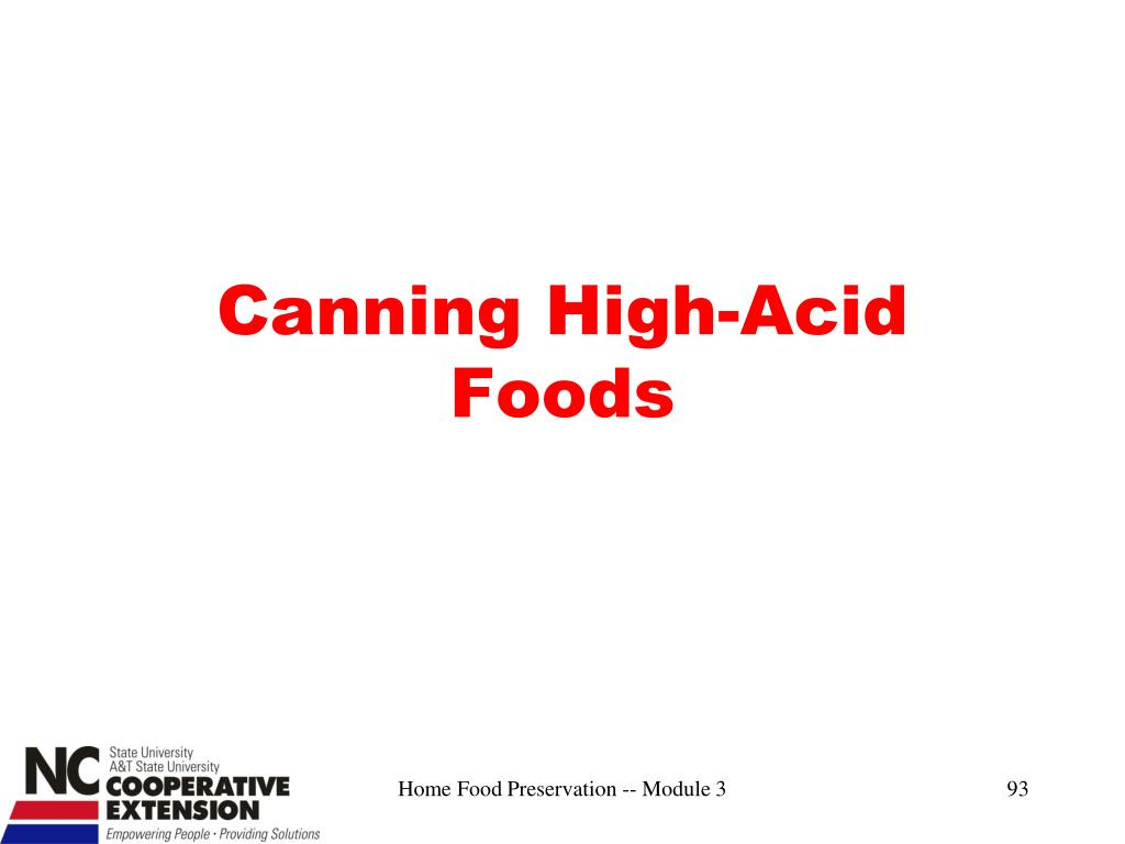 Canning High-Acid Foods