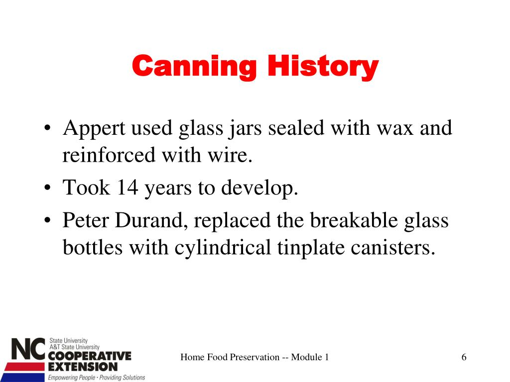 Canning History