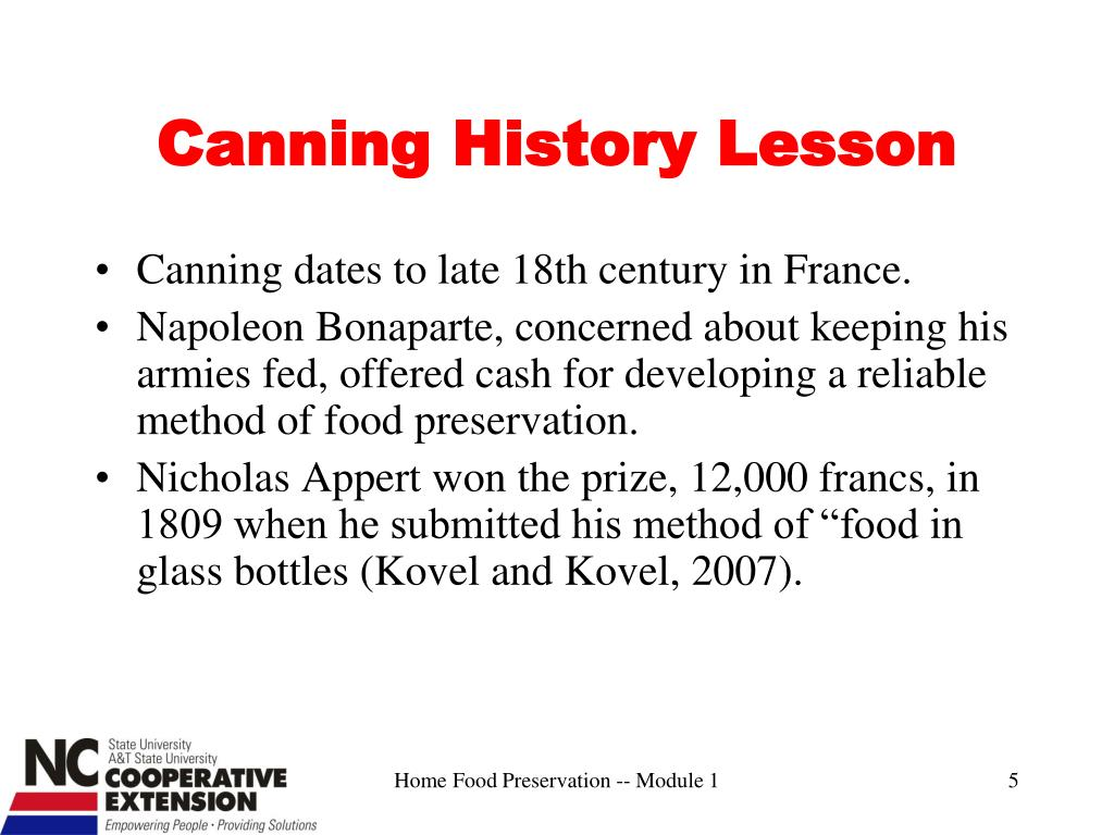Canning History Lesson