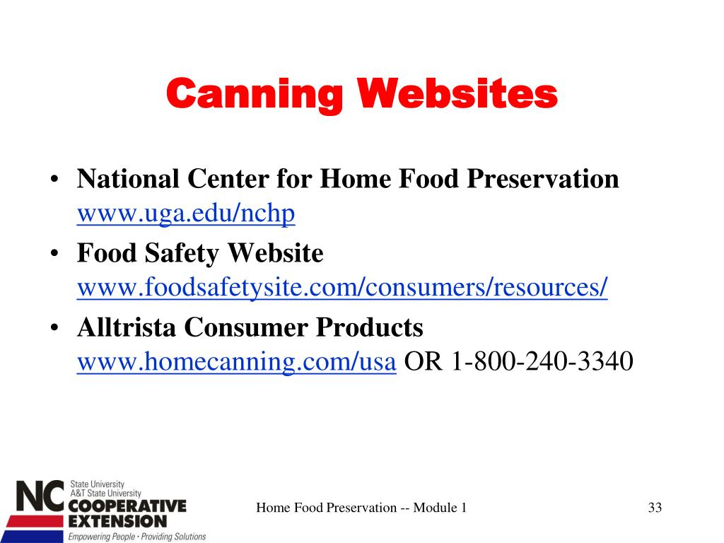 Canning Websites