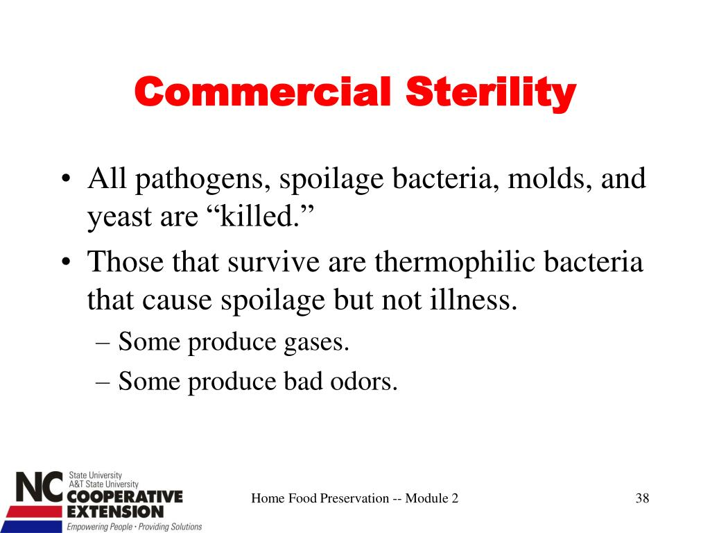 Commercial Sterility