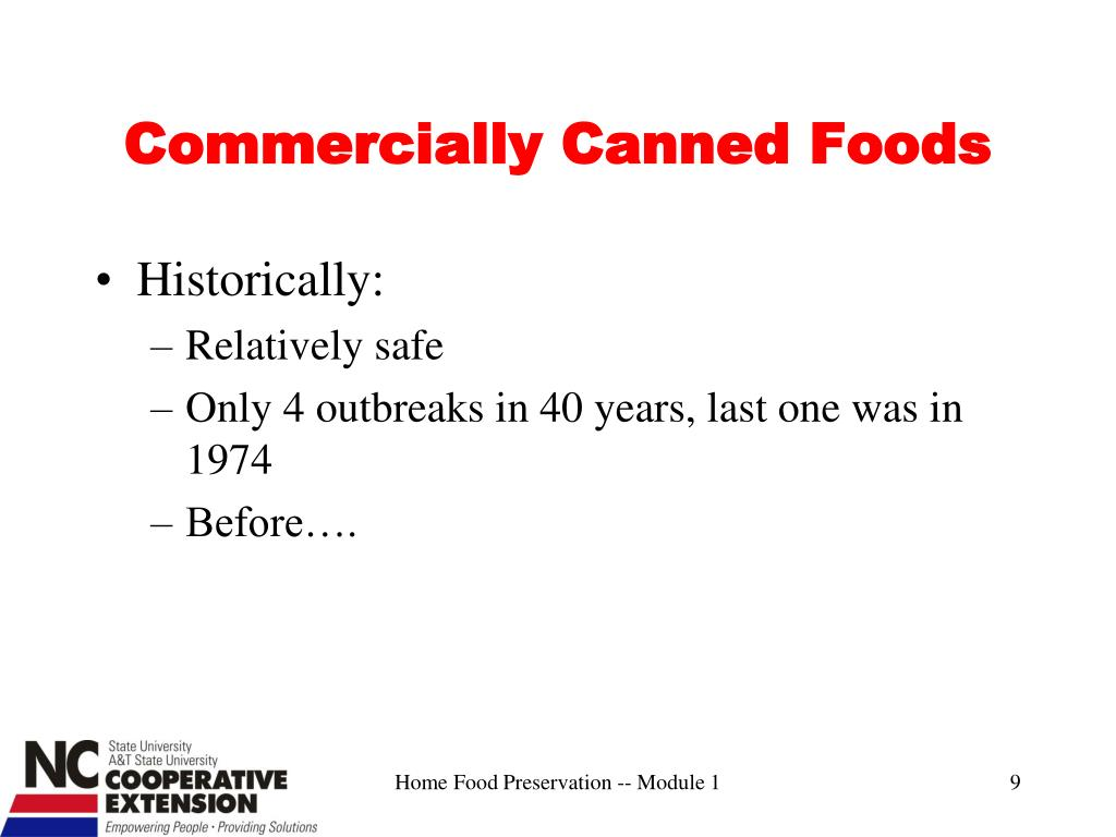 Commercially Canned Foods