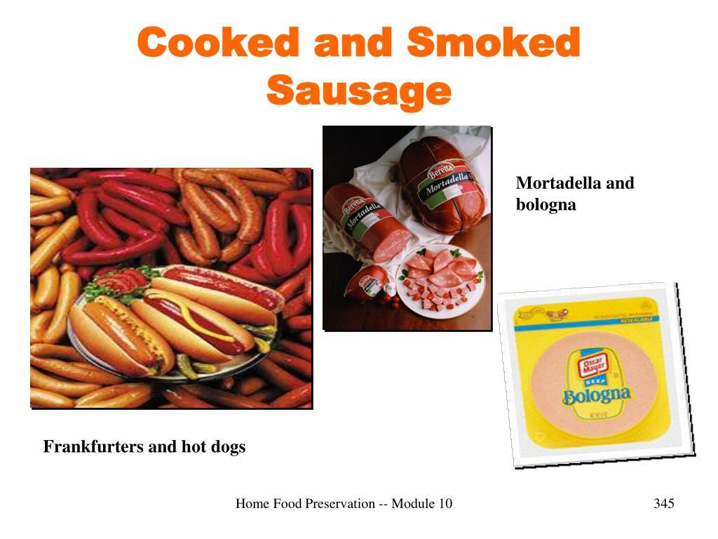 Cooked and Smoked Sausage