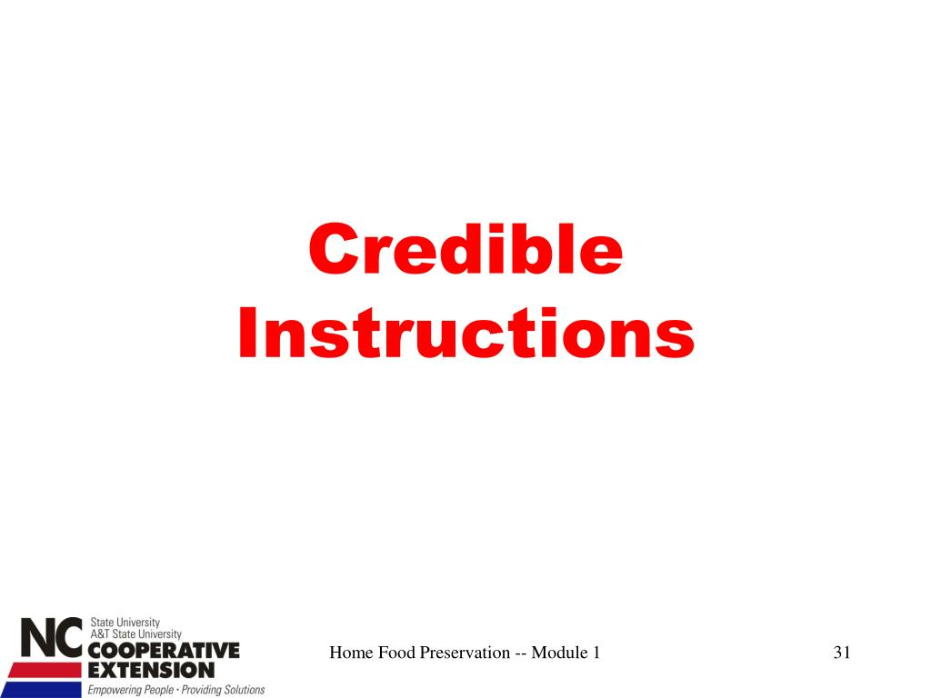 Credible Instructions