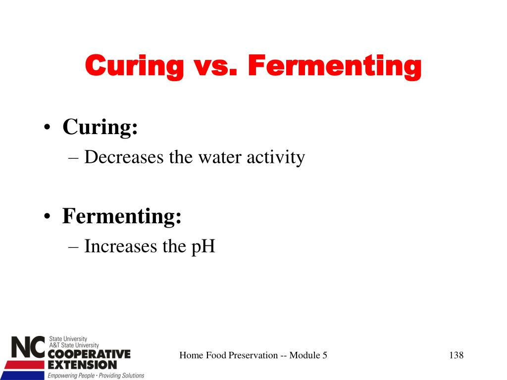 Curing vs. Fermenting