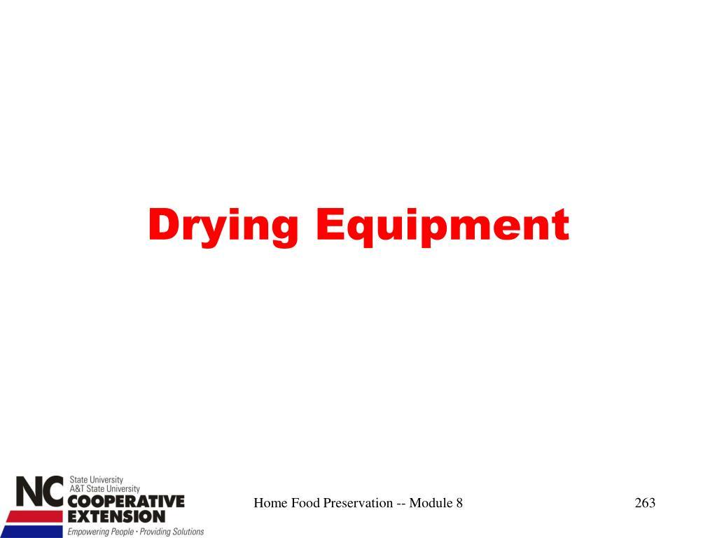 Drying Equipment