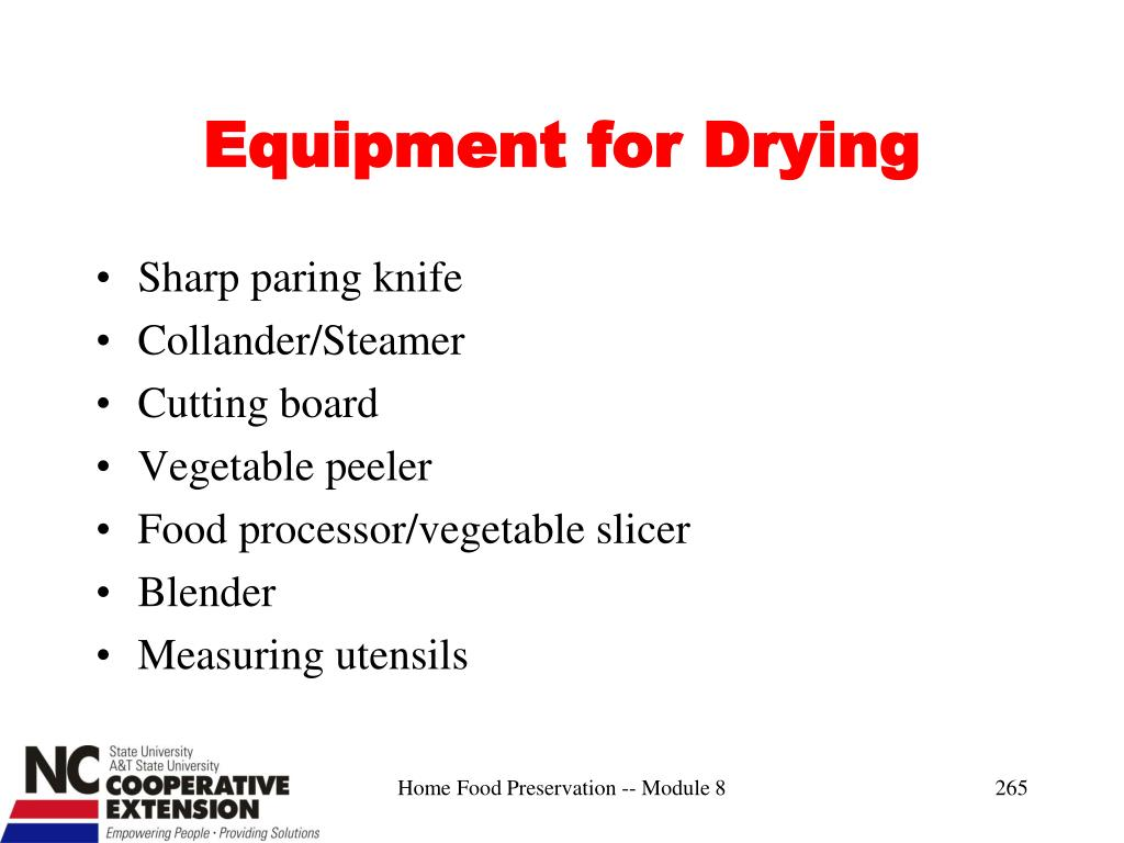 Equipment for Drying