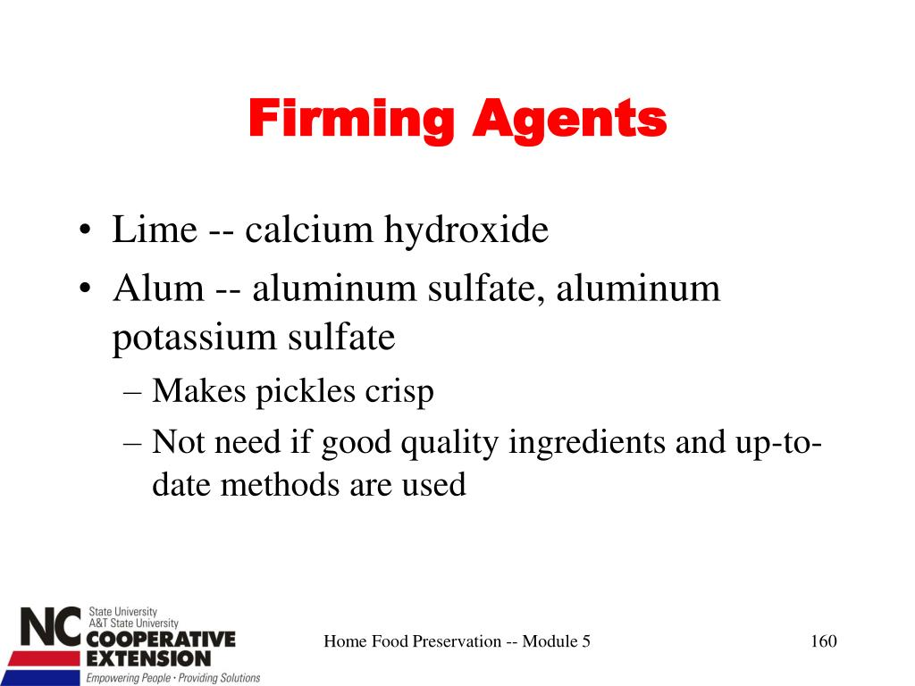 Firming Agents
