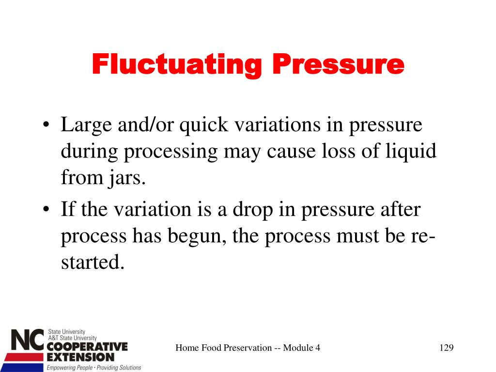 Fluctuating Pressure
