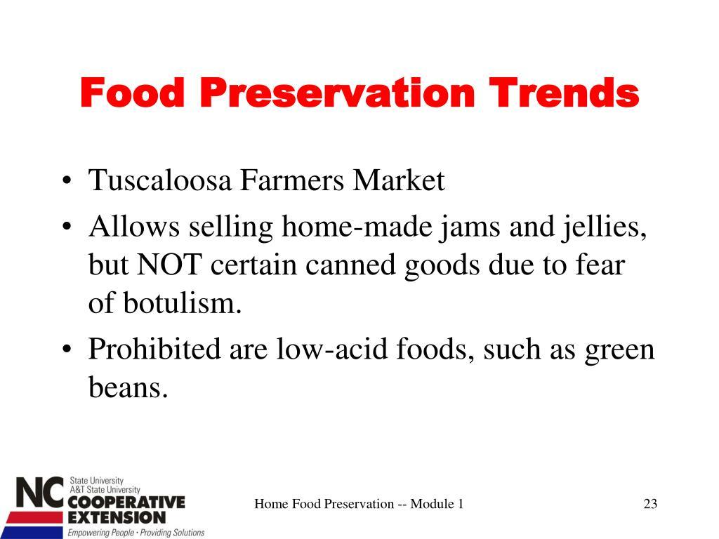 Food Preservation Trends