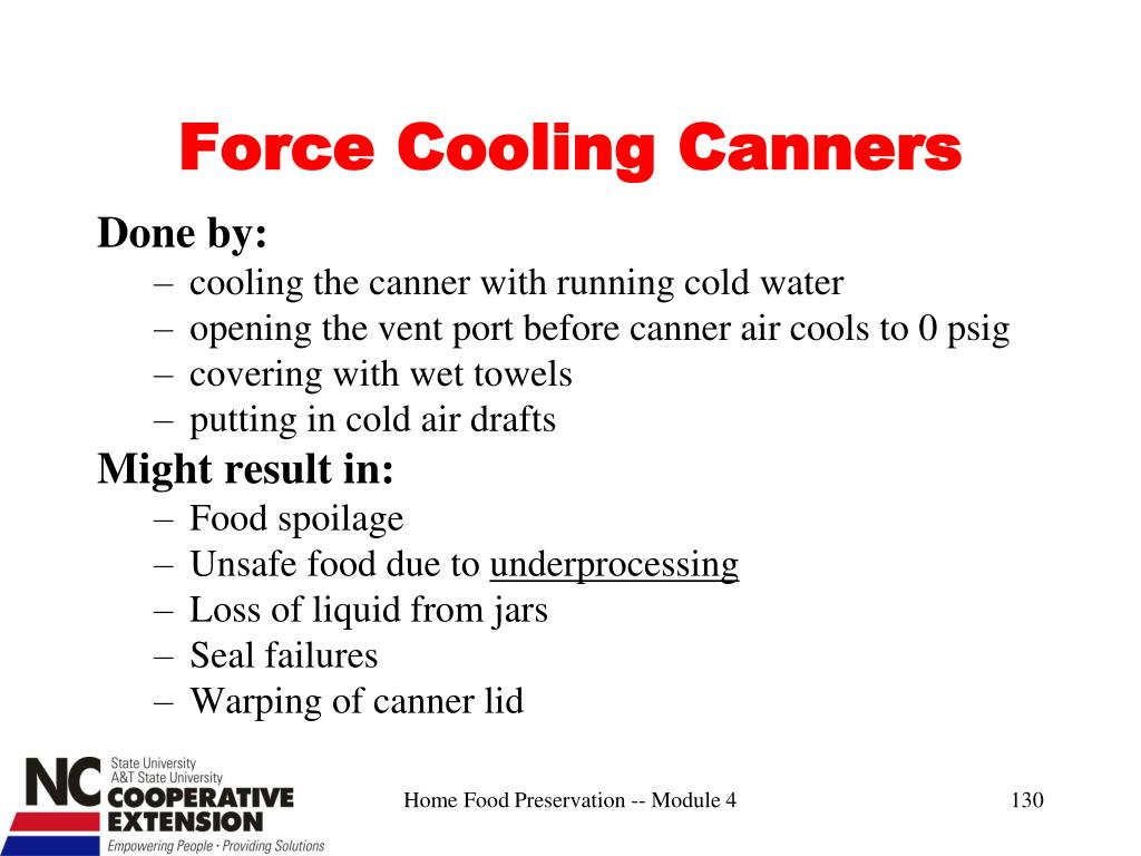 Force Cooling Canners