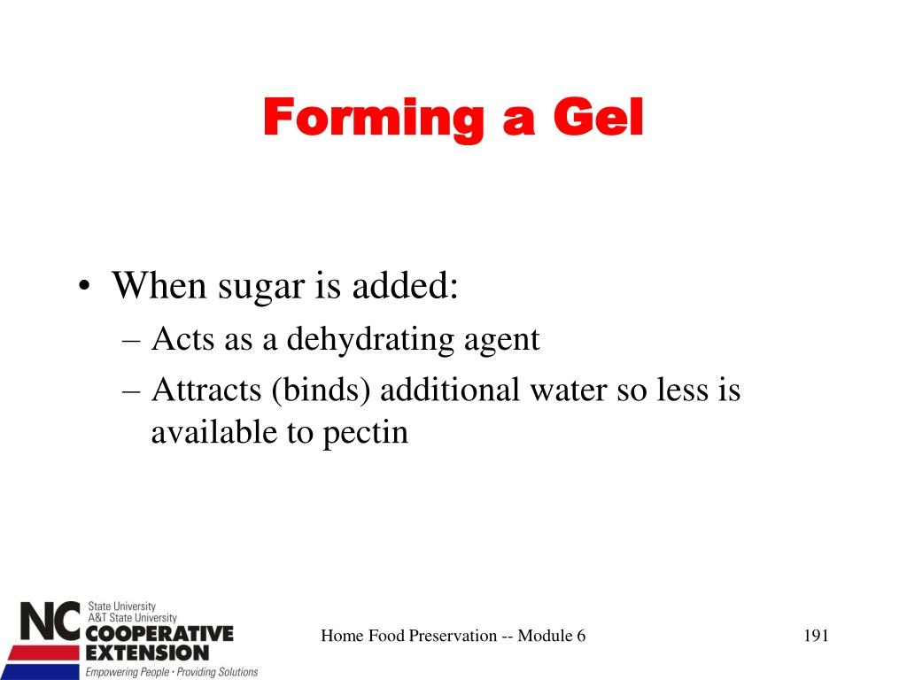 Forming a Gel