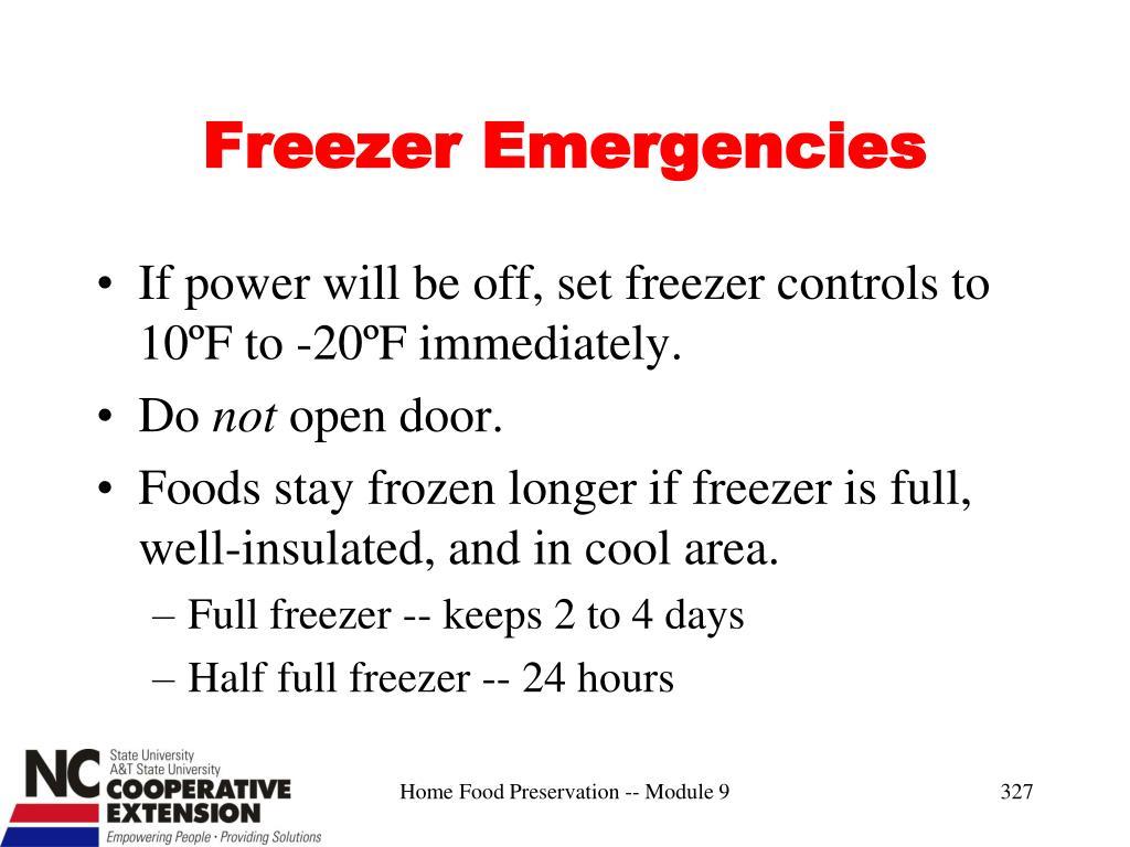 Freezer Emergencies