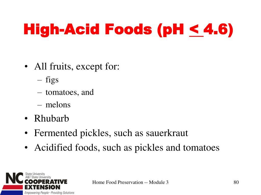 High-Acid Foods (pH