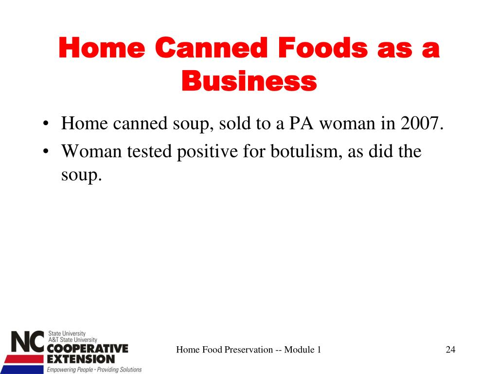 Home Canned Foods as a Business