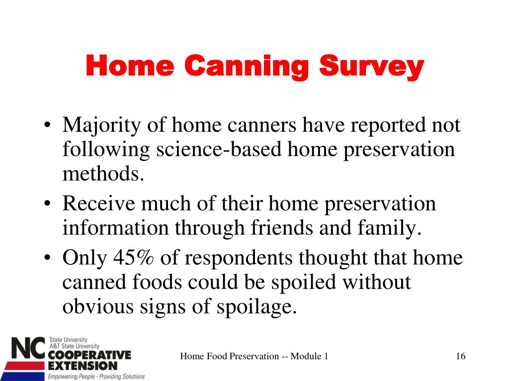 Home Canning Survey
