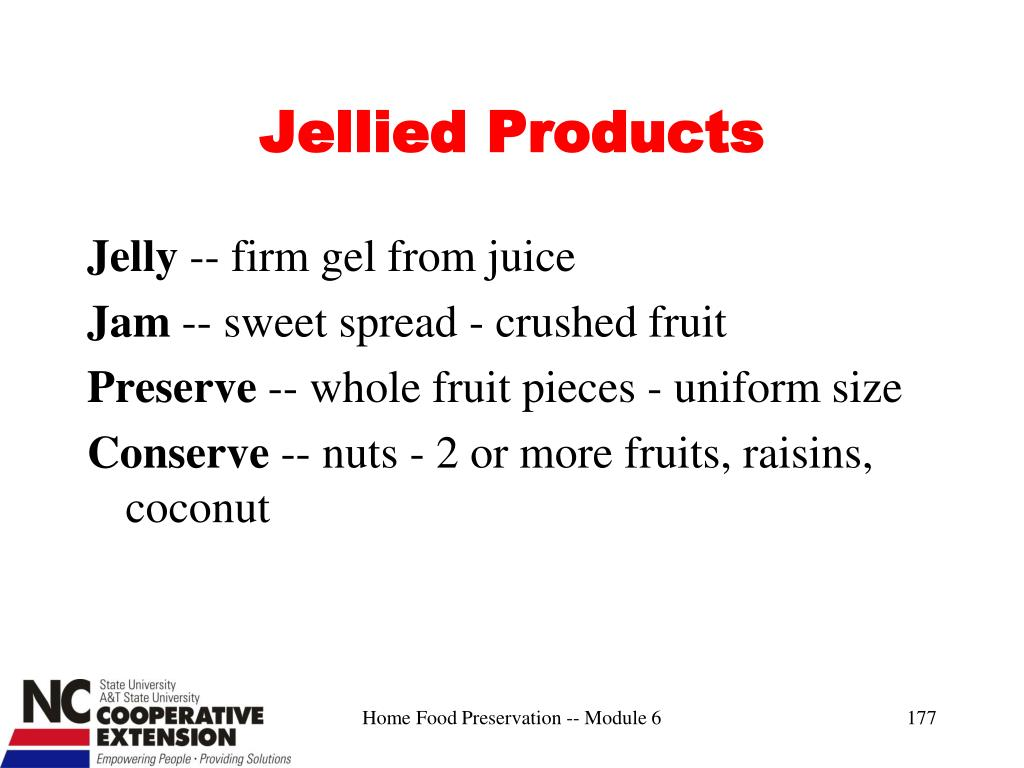 Jellied Products