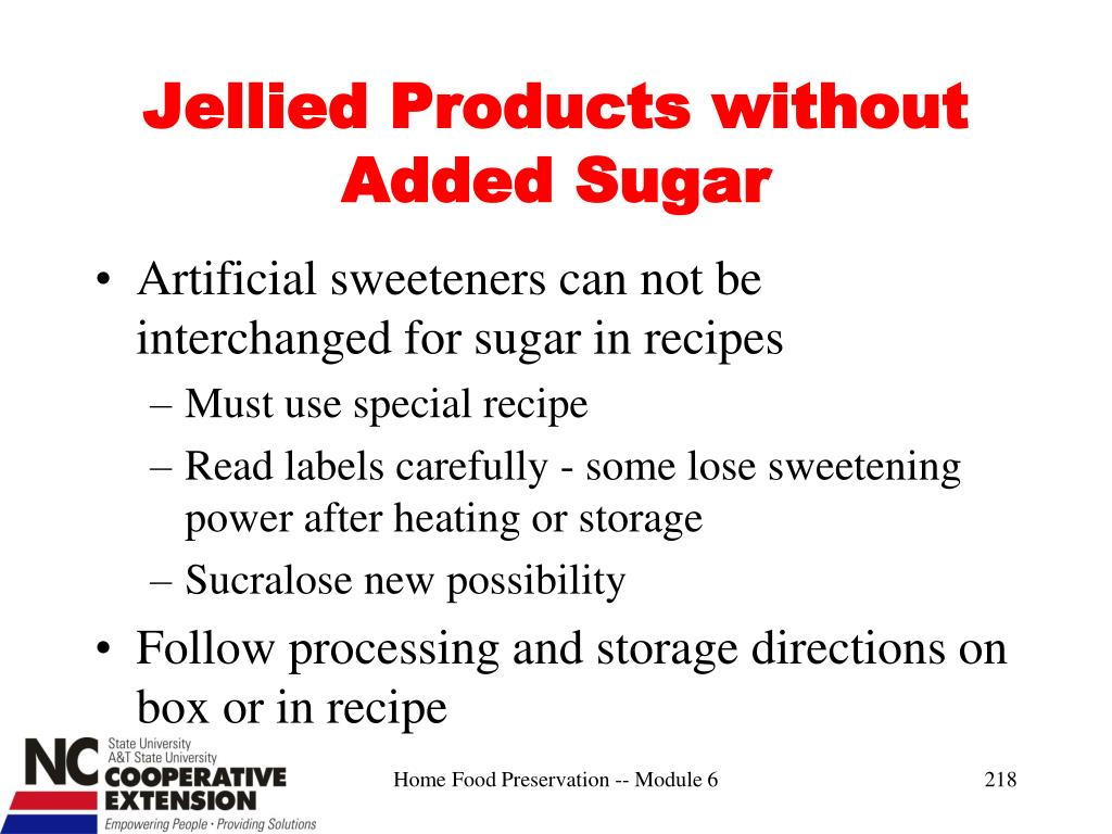 Jellied Products without Added Sugar