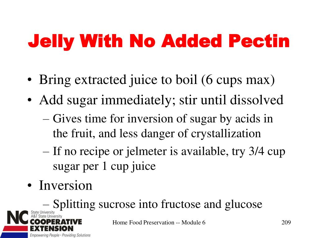 Jelly With No Added Pectin