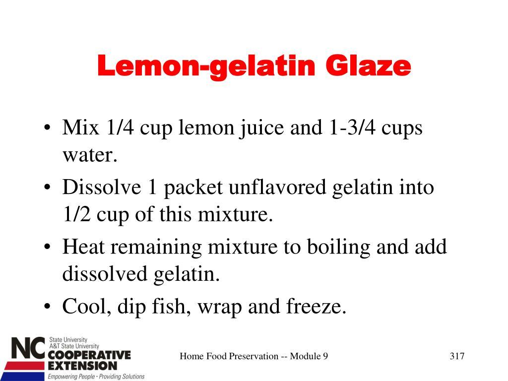 Lemon-gelatin Glaze
