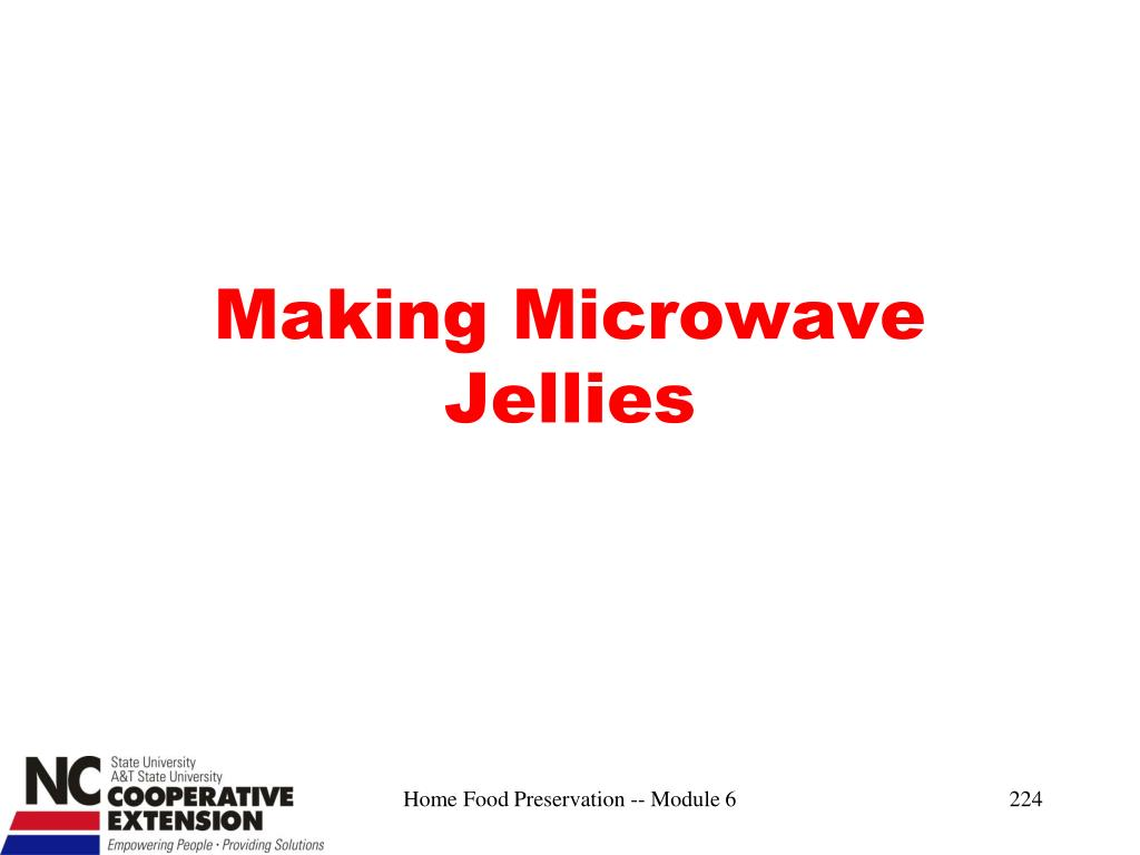 Making Microwave Jellies