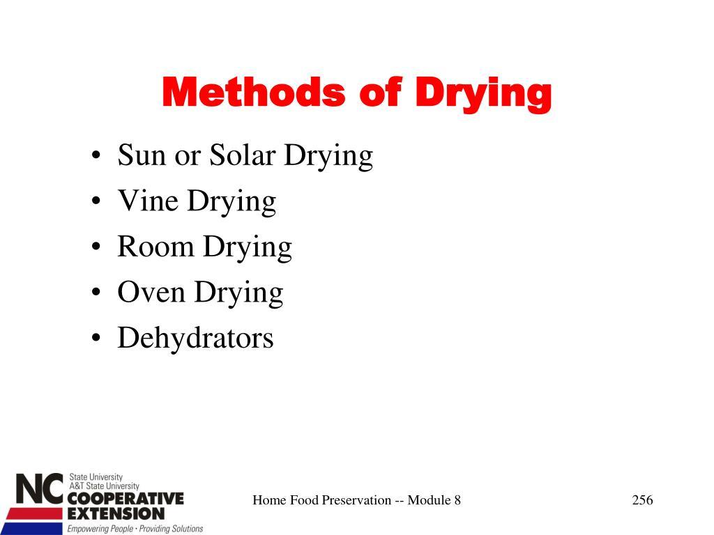 Methods of Drying
