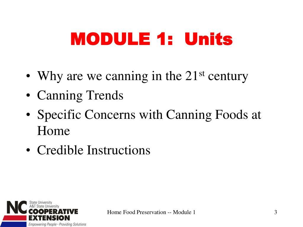 MODULE 1:  Units