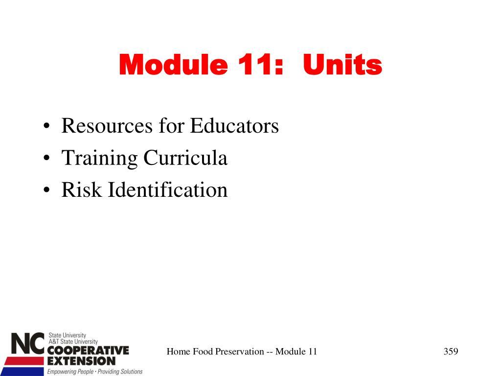 Module 11:  Units