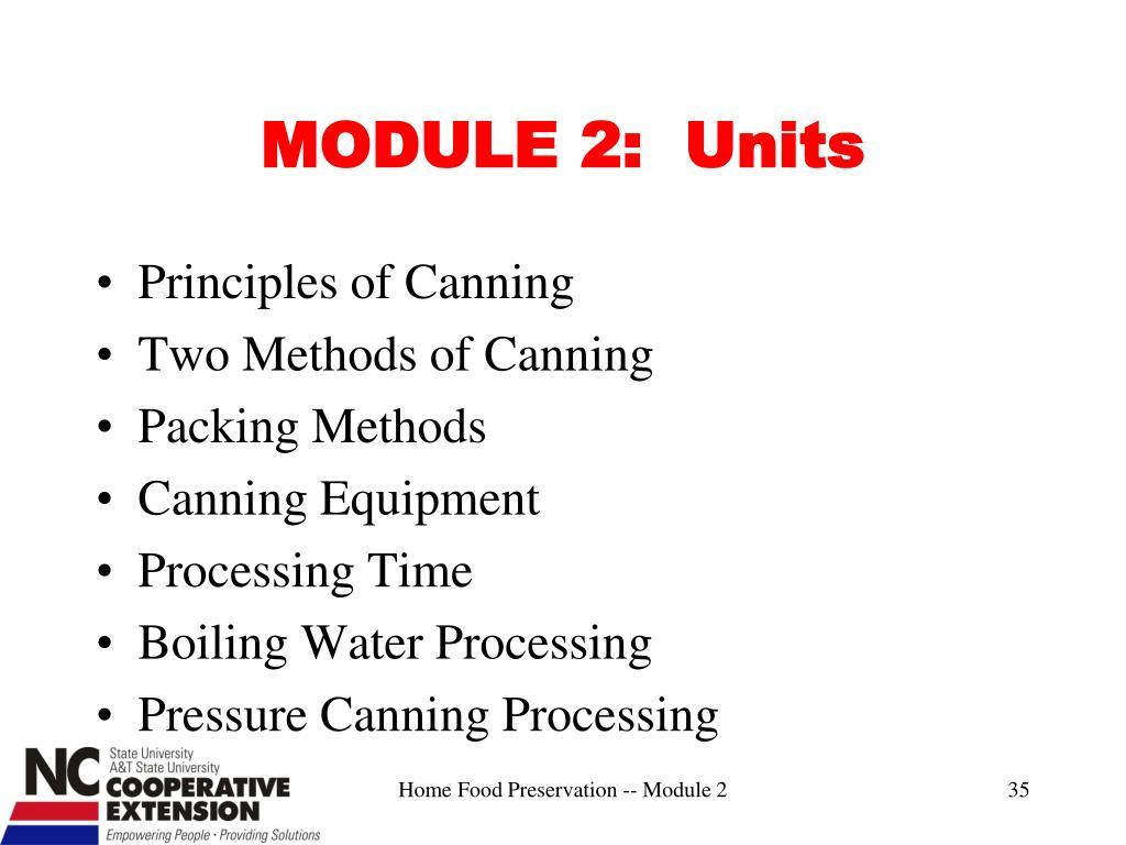 MODULE 2:  Units