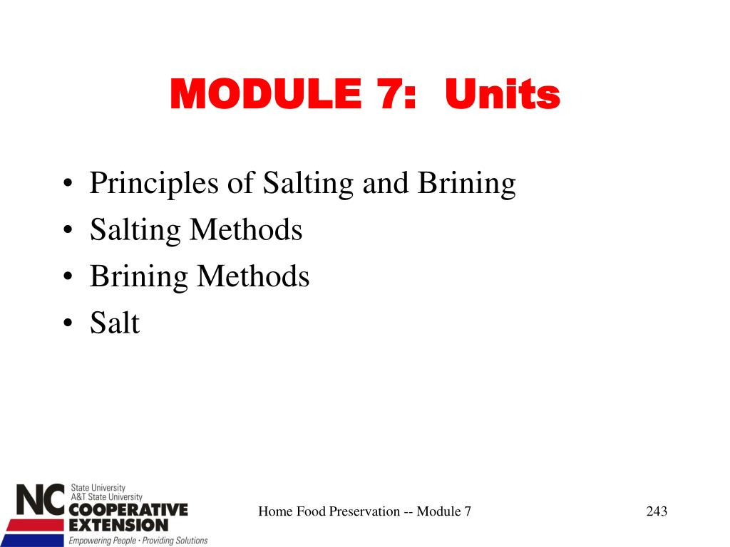 MODULE 7:  Units