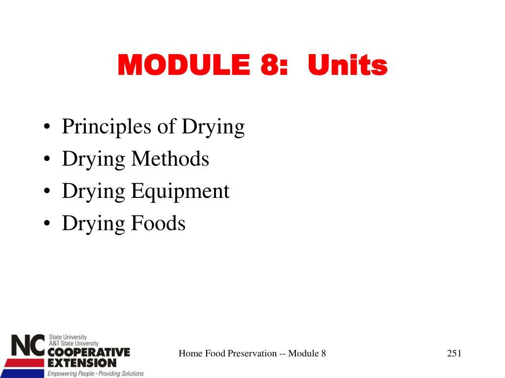 MODULE 8:  Units