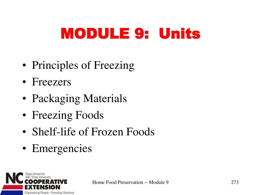 MODULE 9:  Units