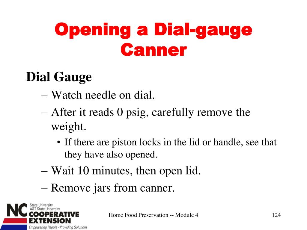 Opening a Dial-gauge Canner