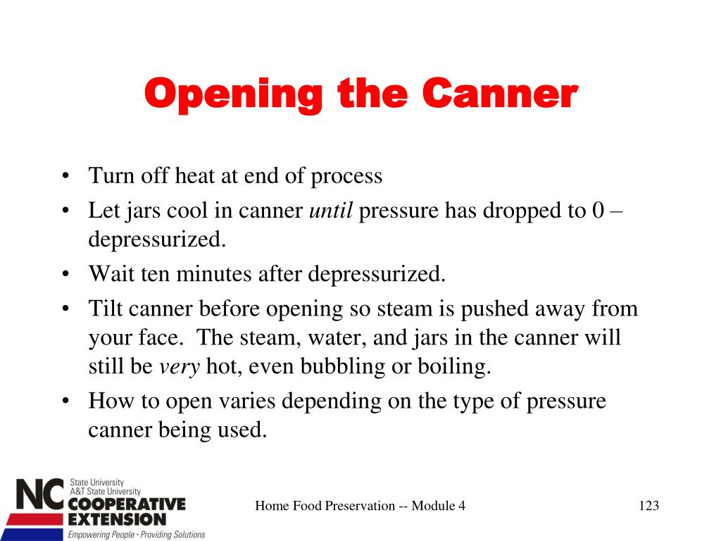 Opening the Canner