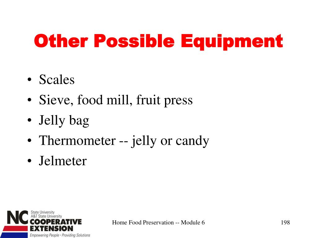 Other Possible Equipment