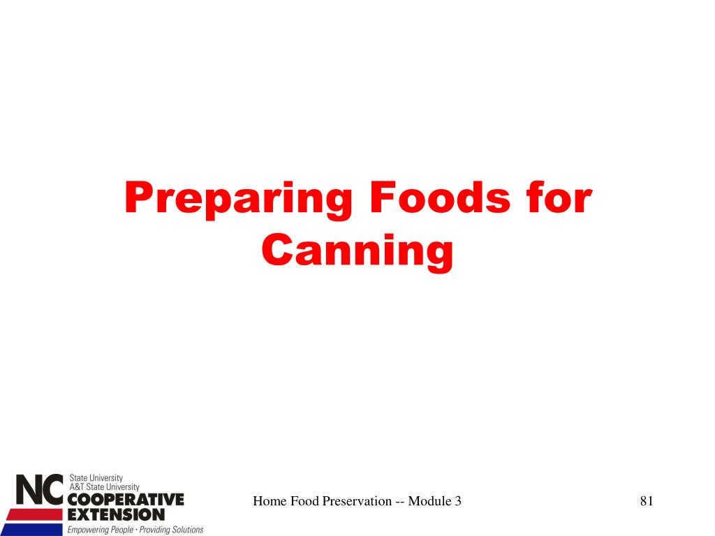 Preparing Foods for Canning