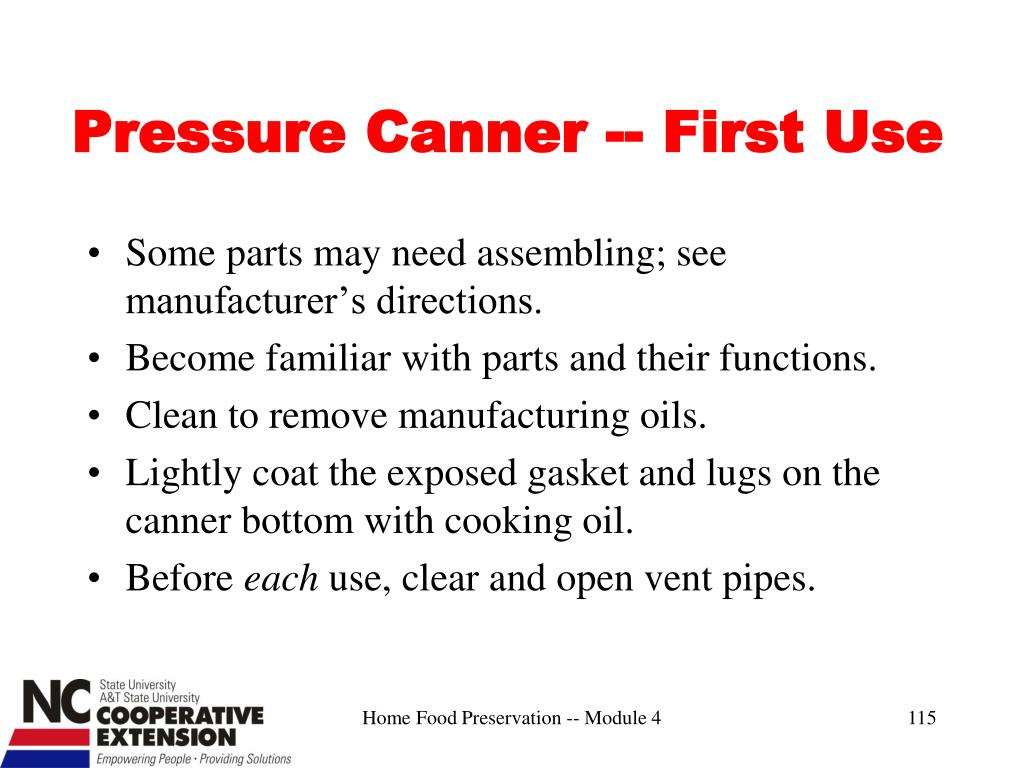 Pressure Canner -- First Use