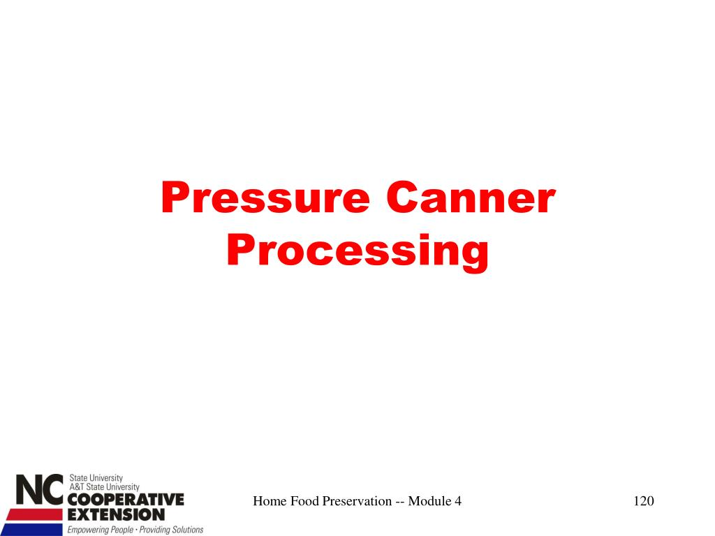 Pressure Canner Processing