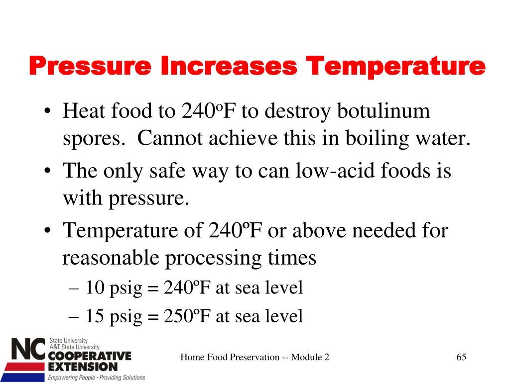 Pressure Increases Temperature