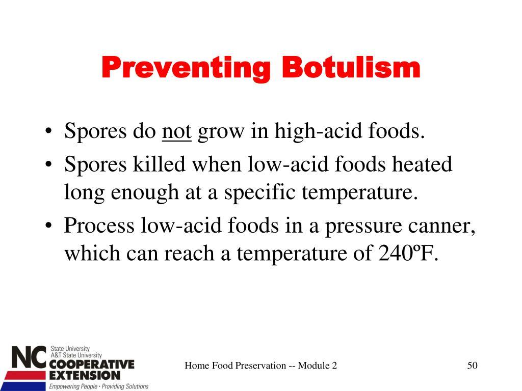 Preventing Botulism