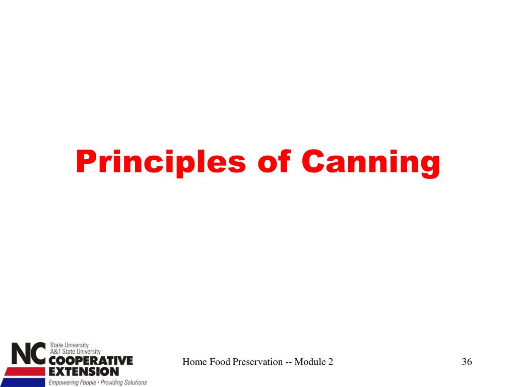 Principles of Canning
