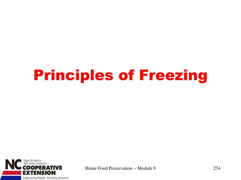 Principles of Freezing