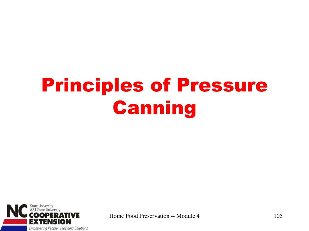 Principles of Pressure Canning