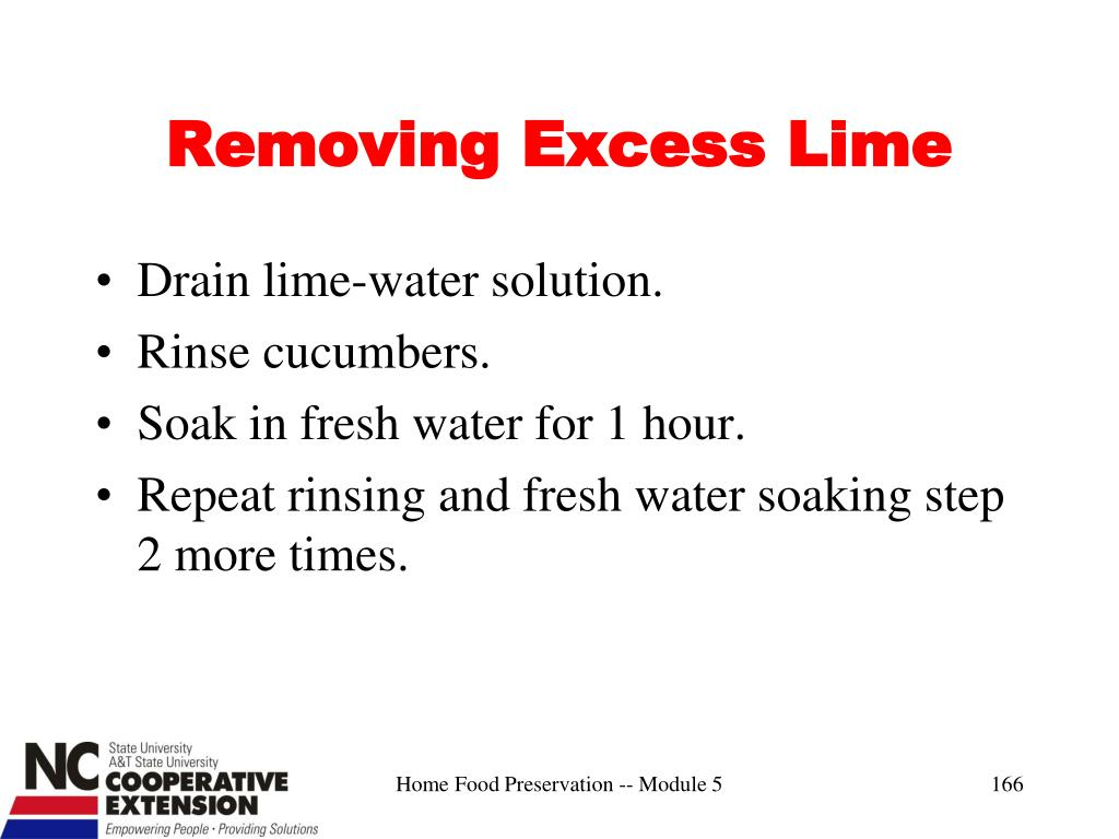 Removing Excess Lime