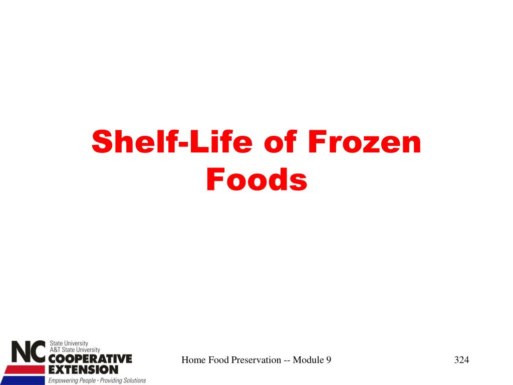Shelf-Life of Frozen Foods