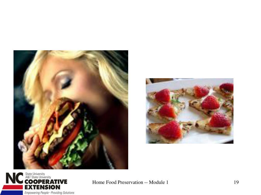 Home Food Preservation -- Module 1